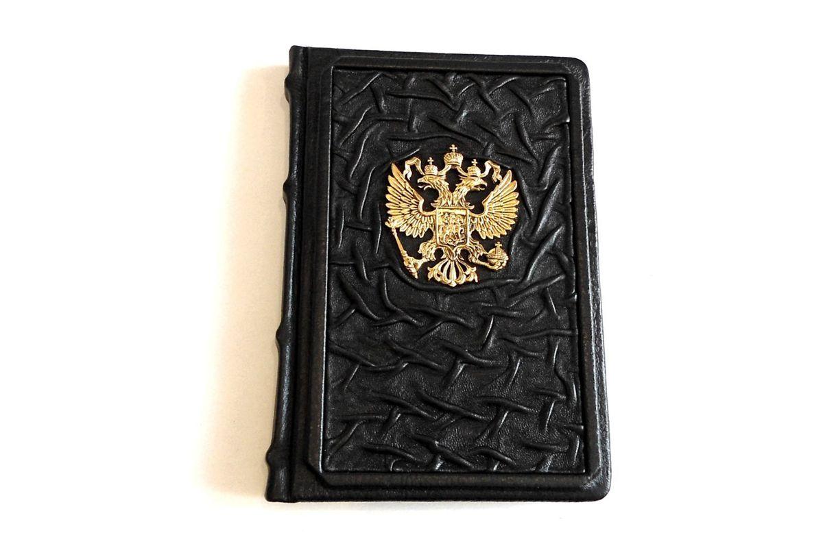Ежедневник Россия в кожаном чехле