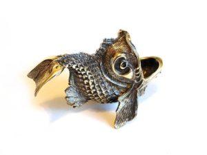 Пепельница Золотая рыбка художественное литье
