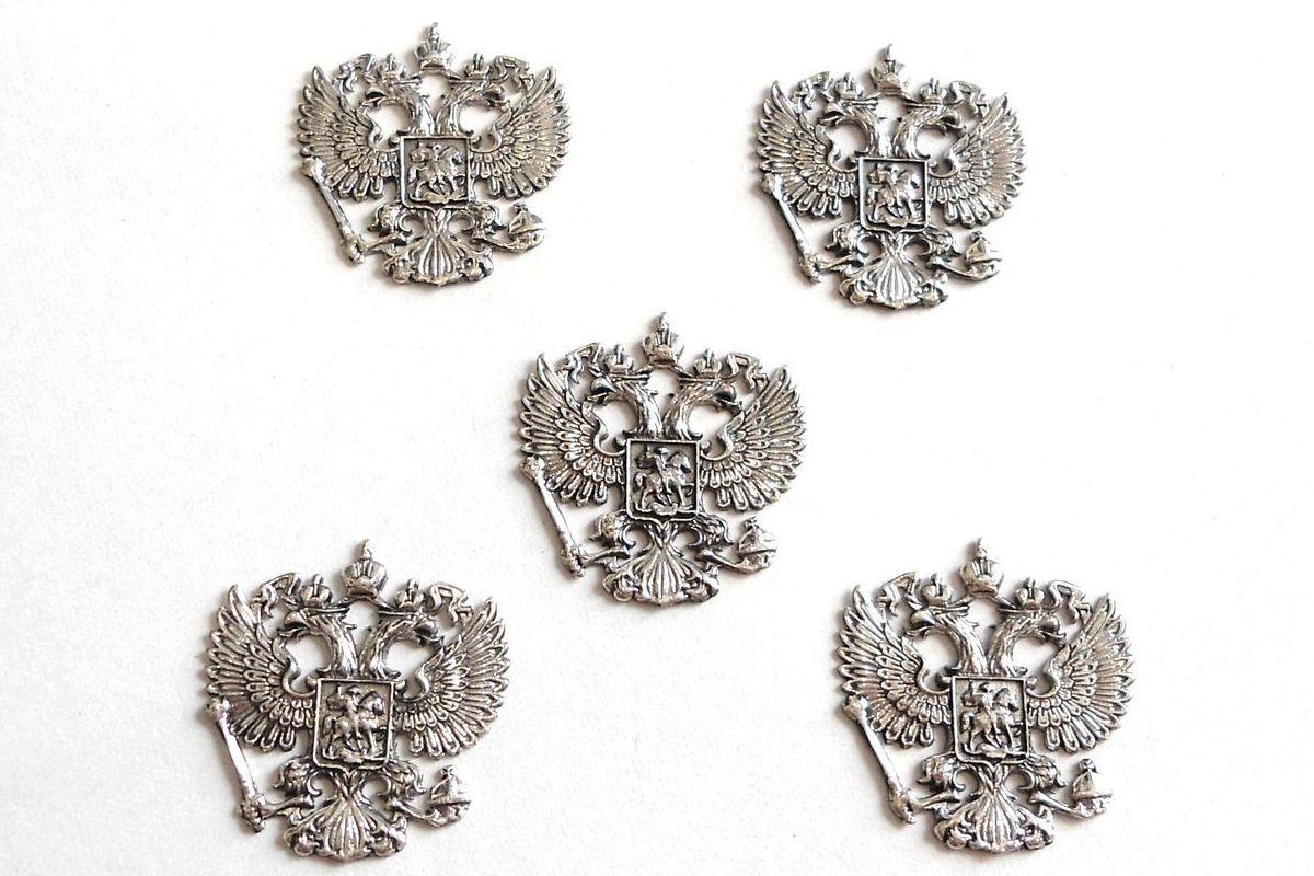 Герб России из серебра купить