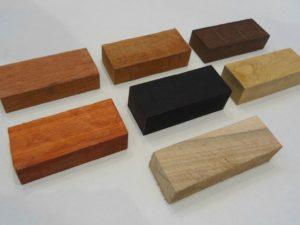 Набор брусков 7 разных пород дерева для рукоятей