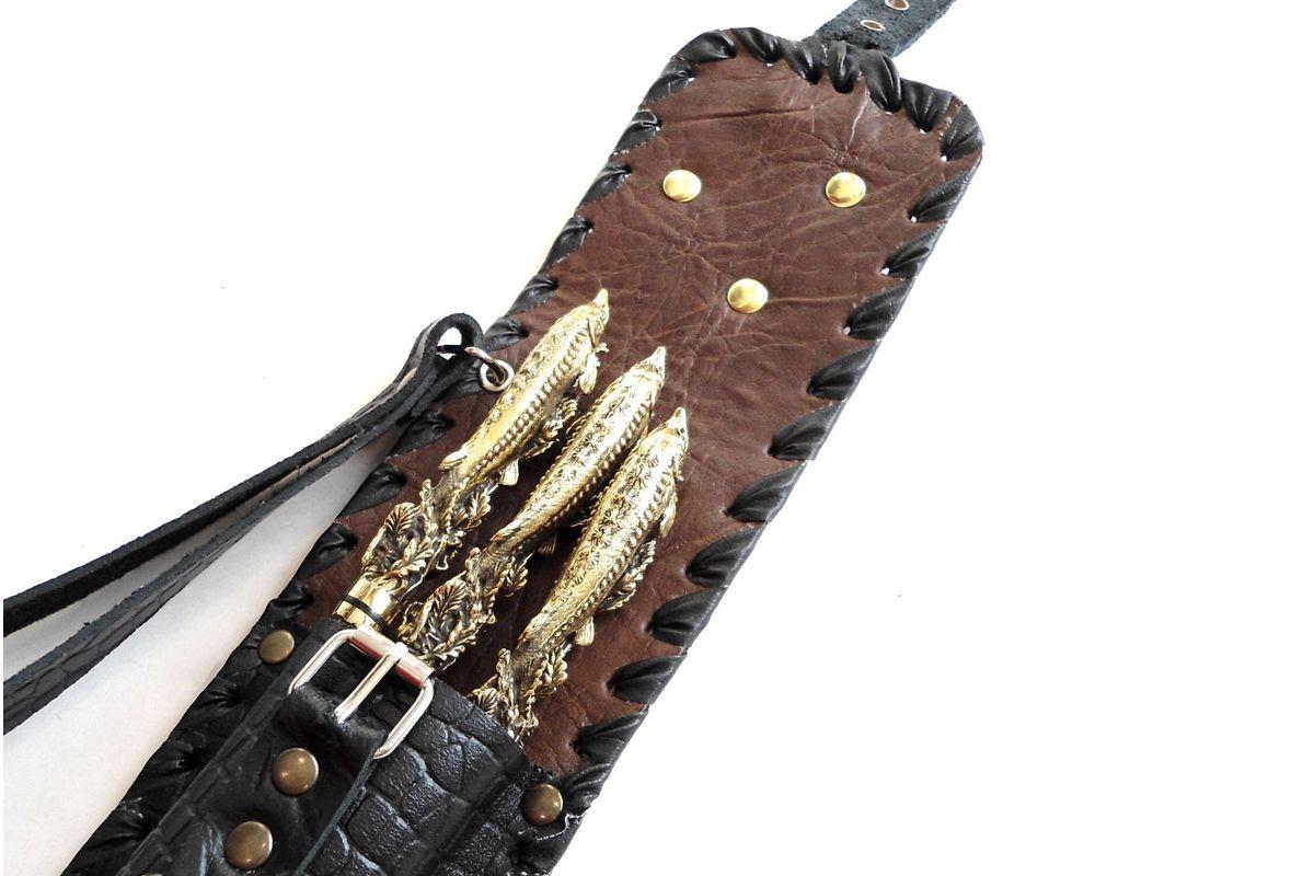 Подарочный набор Осетр нож, ложка и вилка купить
