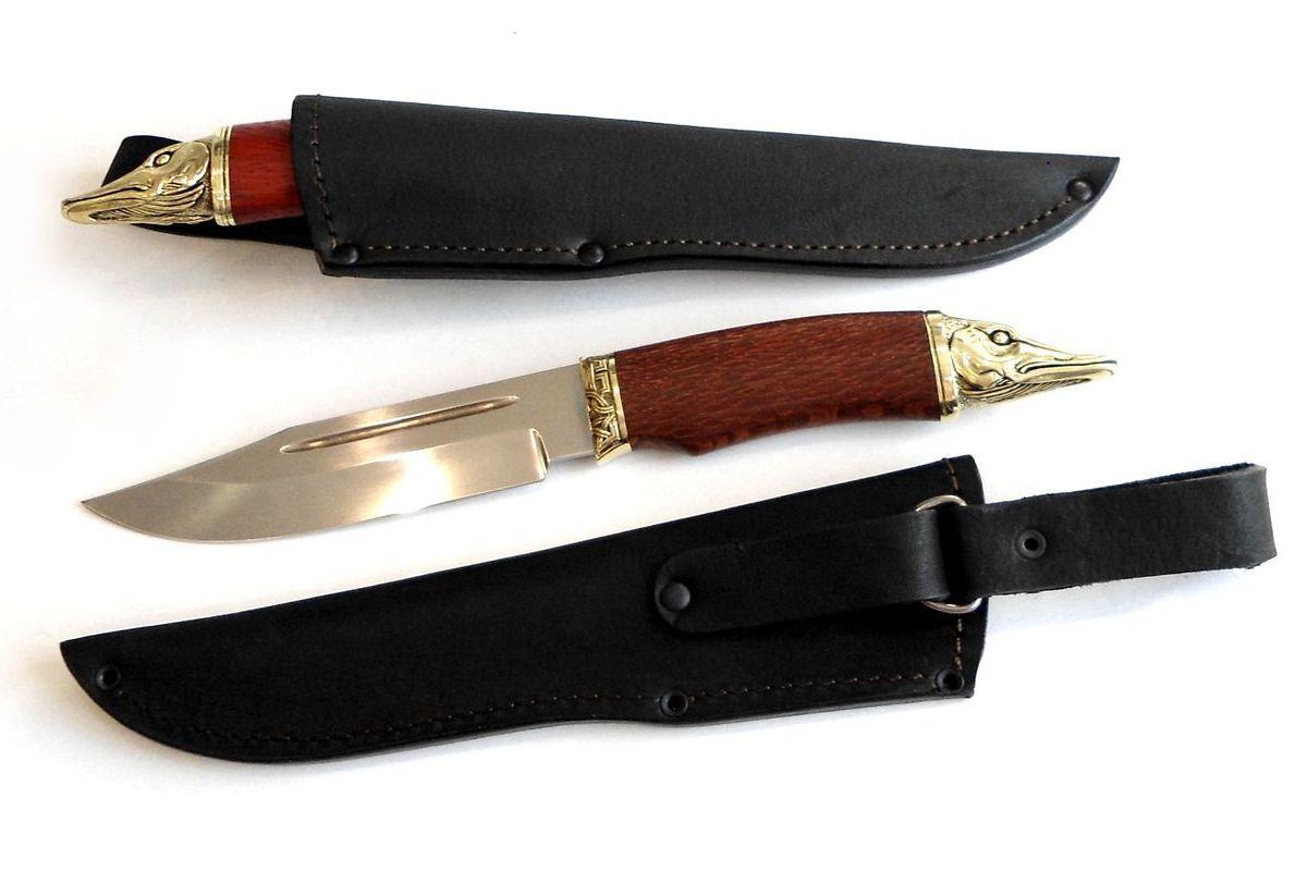 Нож кованый Щука в ножнах цена
