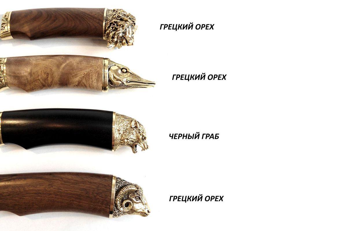 Нож кованый трофей дамаск образцы рукояти