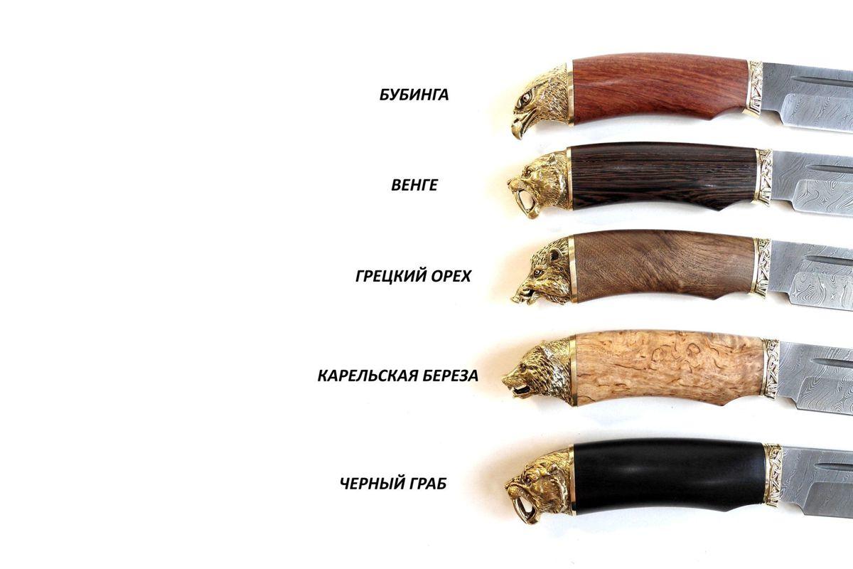 Нож кованый Вожак с деревянной ручкой