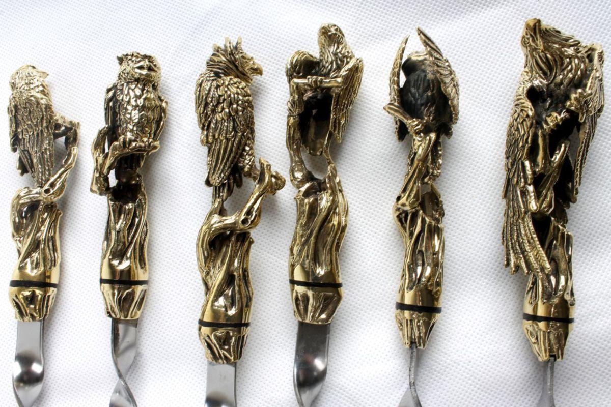 Набор подарочных шампуров Хищные птицы