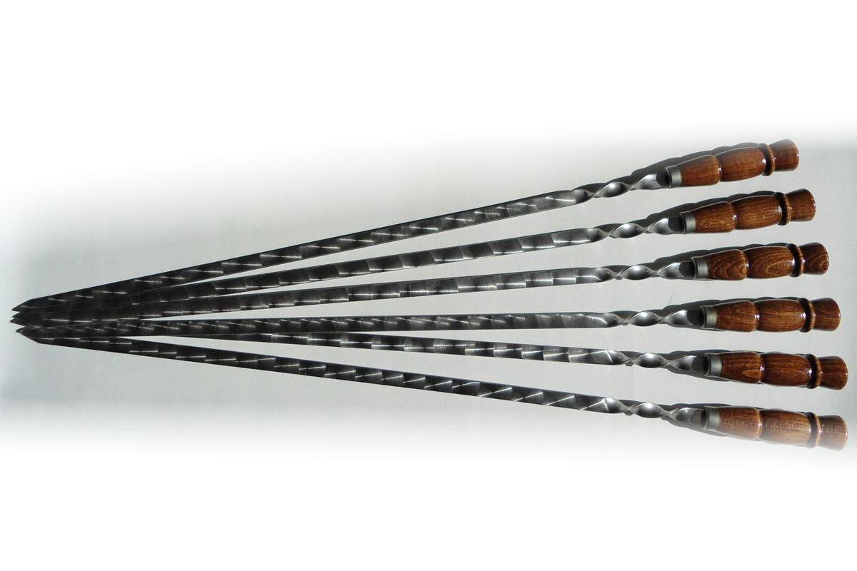 Шампуры Купец с деревянной ручкой цена