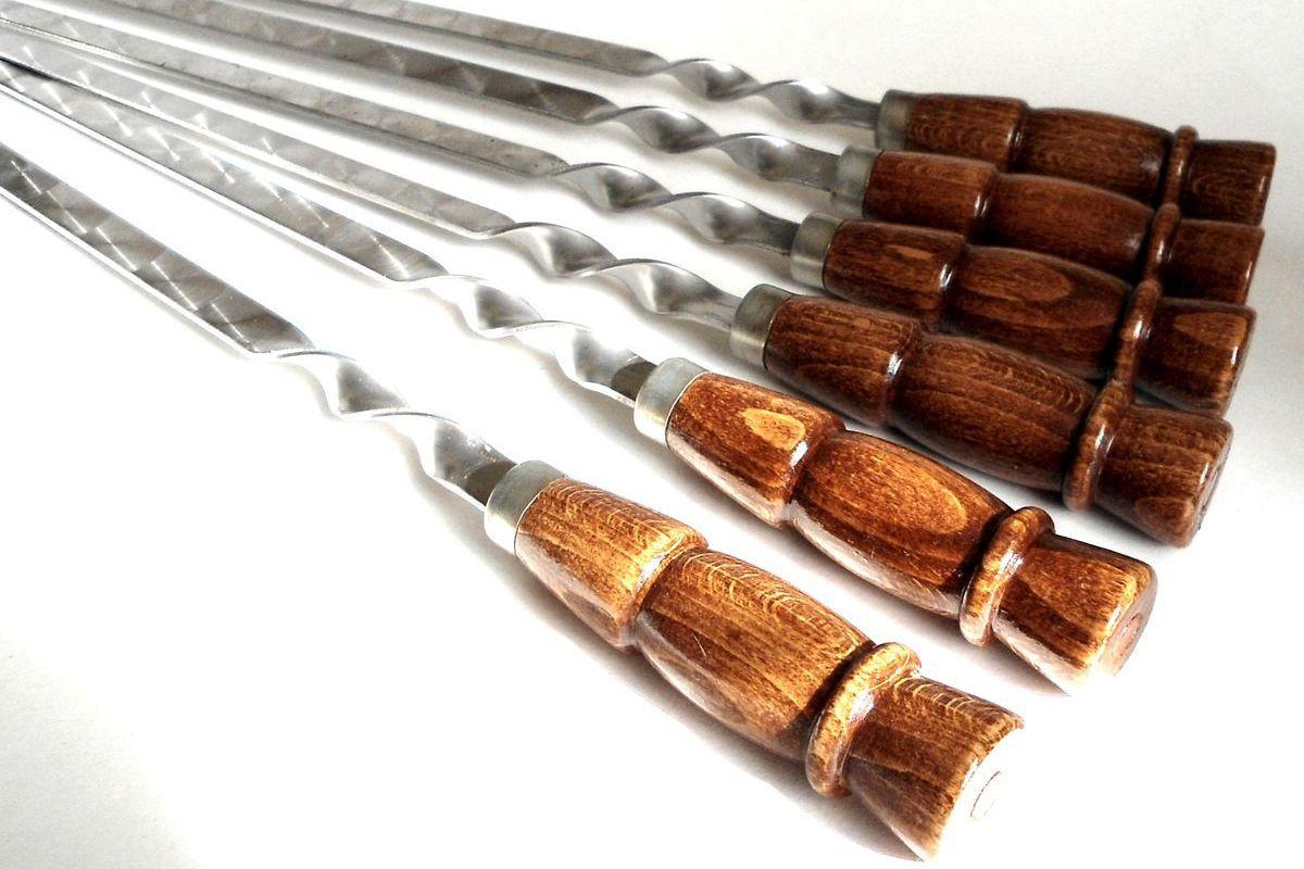 Шампуры Купец с деревянной ручкой купить